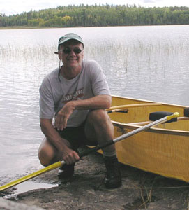 Jerry Vandiver on Nina Moose Lake