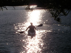 Kayak on Hustler Lake
