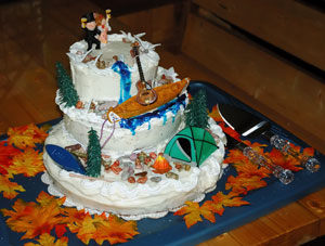 Boundary Waters Wedding Ceremony Cake